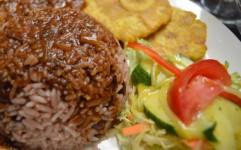 Foto de un buen Rice-n-beans Caribeno Costa Rica