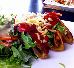 Veggie Tacos from Mantras Veggie Cafe in Costa Rica
