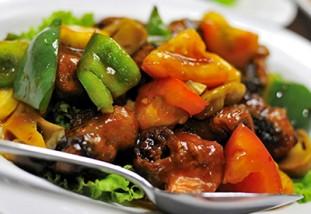 Foto de un delicioso arroz cantones del Restaurante Pung Lung en Belen