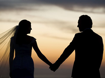 Picture of couple getting married