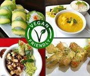Restaurante con opciones veganas