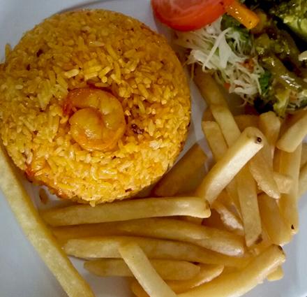 arroz con camarones a domicilio