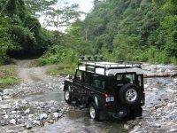 driving through rivers Costa Rica
