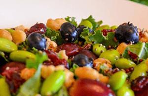 Foto de una deliciosa ensalada del Restaurante Mandala