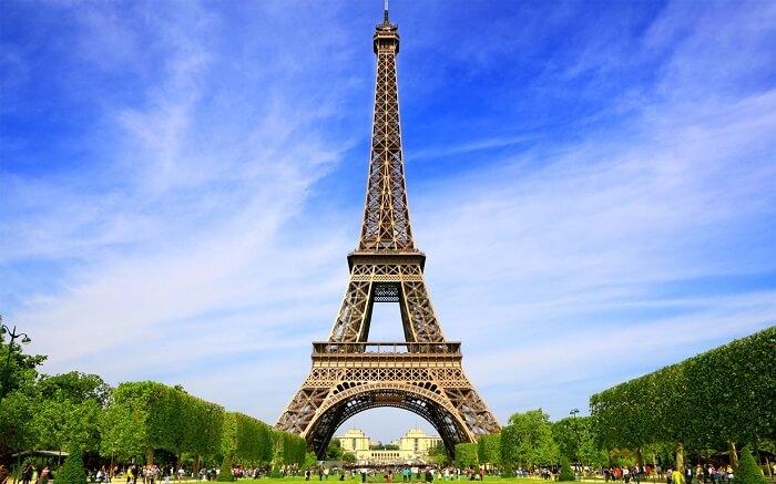Foto de la torre Eiffel en Paris