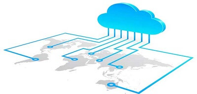 Representación gráfica de la nube de internet