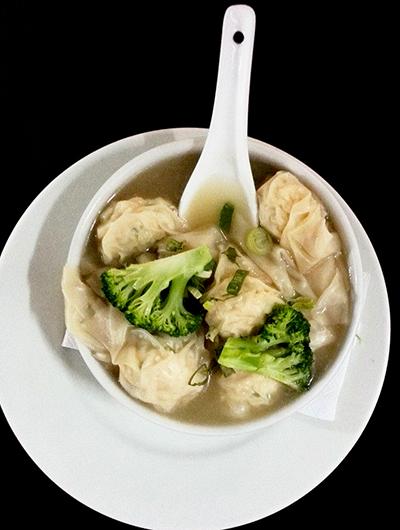 Foto de Sopa de Wantan de Camarones o Pollo