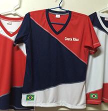 Camiseta de futbol de Costa Rica confeccionada en Almacen San Antonio