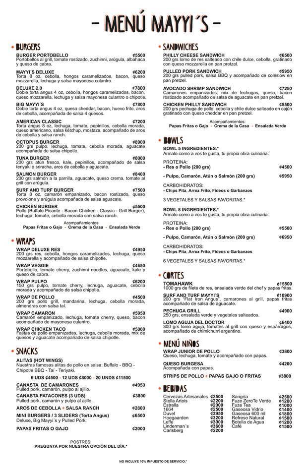 menu mayyis